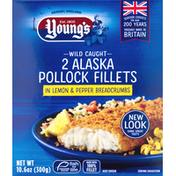 Young's Pollock Fillets in Lemon & Pepper Breadcrumbs, Alaska