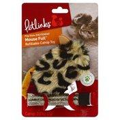 Petlinks Catnip Toy, Refillable, Mouse Full