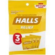 Halls Throat drops, Honey Lemon Flavor