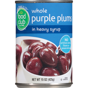 Food Club Whole Purple Plums In Heavy Syrup