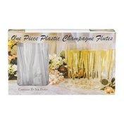 Party Essentials One Piece Plastic Champagne Flutes - 10 CT