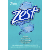 Zest Refreshing Bars, Aqua, with Vitamin E