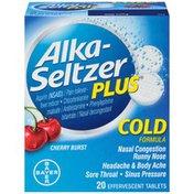 Alka-Seltzer Plus Cherry Burst Cold Formula Effervescent Tablets Cold Medicine