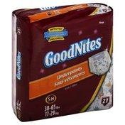 GoodNites Underpants, Girls, S-M (38-65 lbs), Mega