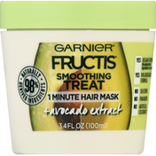 Garnier Hair Mask, 1 Minute, Smoothing Treat, Avocado Extract