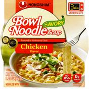 Nongshim Noodle Soup, Savory Bowl, Chicken Flavor