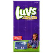 Luvs with Ultra Leakguard Mega Pack Size 4 Diapers
