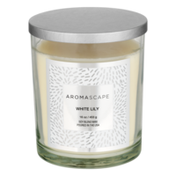 Aromascape Fragranced Candle with Natural Essential Oils White Lily