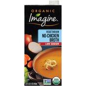 Imagine Organic Low Sodium Vegetarian No-Chicken Broth