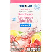 Food Lion Drink Mix, Raspberry Lemonade, Low Calorie, On-The-Go