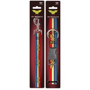 Buckle-Down Small Wonder Woman Dog Leash & Collar Set