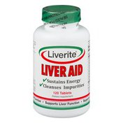Liverite Liver Aid Dietary Supplement Tablets - 120 CT