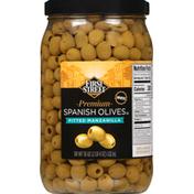 First Street Spanish Olives, Premium, Pitted Manzanilla