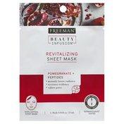 Freeman Sheet Mask, Revitalizing, Pomegranate + Peptides