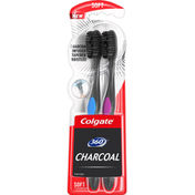 Colgate Toothbrushes, Charcoal, Soft