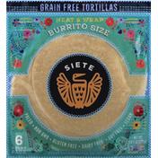 Siete Tortillas, Grain Free, Burrito Size