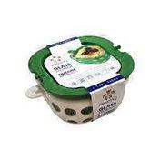 Lifefactory White & Green Glass Food Storage