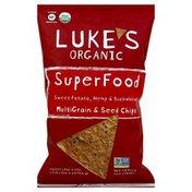Lukes Chips, Multigrain & Seed, Sweet Potato Hemp & Buckwheat, Superfood, Organic, Bag