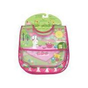 Green Sprouts 3 Piece Pink Picnic Wipe Off Bib
