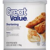 Great Value Shortening
