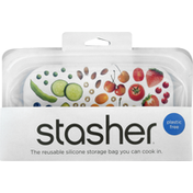 Stasher Storage Bag, Reusable Silicone, Snack Size, 9.9 Fluid Ounce