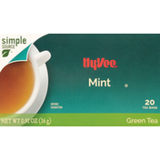 Hy-Vee Green Tea, Mint, Bags