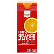 Market Pantry 100% Juice, Orange, Pulp Free