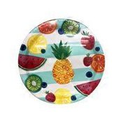 "Amscan 10.5"" Large Hawaiian Aloha Tropical Fruit Banquet Dinner Paper Plate"
