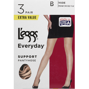 L'eggs Pantyhose, Support, Nude, Size B