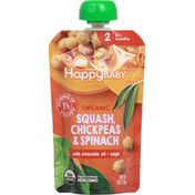 Happy Baby Baby Food, Organic, Squash, Chickpeas & Spinach