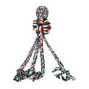 KONG Company Holiday Large Wubba Weaves With Rope Dog Toys