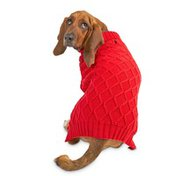 Bond Small Red Camp Pet Cable Sweater