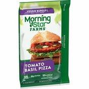 Morning Star Farms Veggie Burgers, Plant Based Protein, Tomato Basil Pizza