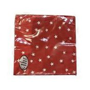 Ideal Home Range Red Little Stars 3-Ply Paper Cocktail Napkins