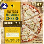 California Pizza Kitchen Artisanal Style Cheese Cauliflower Crispy Thin Crust Pizza