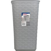 Sterilite WasteBasket, Cement, Weave