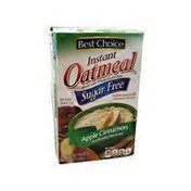 Best Choice Apples & Cinnamon Flavored Sugar Free Instant Oatmeal