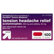 Up&Up Headache Relief, Tension, 500 mg, Coated Caplets