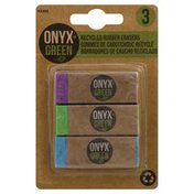 Onyx + Green Erasers, Recycled Rubber