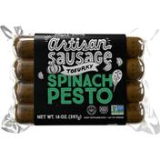 Tofurky Spinach Pesto Sausage
