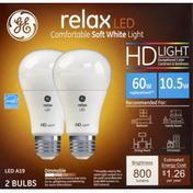 GE Light Bulbs, Relax LED, Soft White, 10.5 Watts