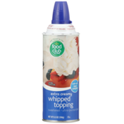 Food Club Extra Creamy Whipped Topping