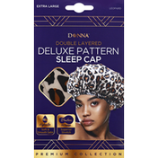Donna Sleep Cap, Deluxe Pattern, Leopard, Extra Large