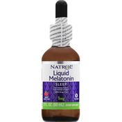 Natrol Liquid Melatonin, Sleep, 1 mg, Berry