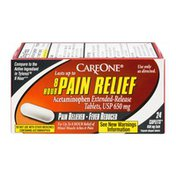 CareOne 8 Hour Pain Relief, 650 mg, Caplets