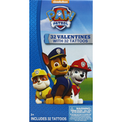 Nickelodeon Valentines, with Tattoos, Paw Patrol