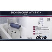 Drive Shower Chair, with Back, Grey
