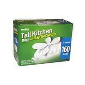 Meijer 13 Gallon Tall Kitchen Trash Bag With Flap Tie