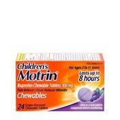 Children's Motrin Ibuprofen Chewable Tablets, 100 Mg, Grape
