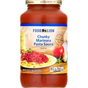 Food Lion Pasta Sauce, Marinara, Chunky